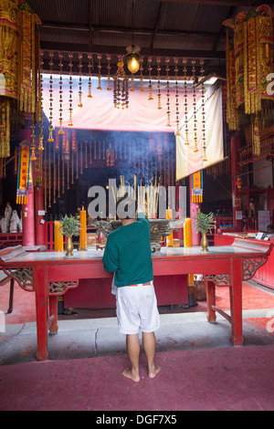 Kuan An Keng Shrine was built by a group of Chinese and an image of Chao Mae Kuan-in was enshrined inside. - Stock Photo
