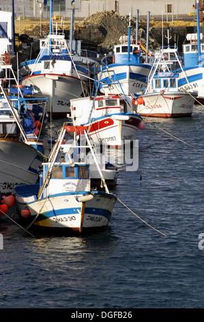 Boats in the Port of Tarifa. Tarifa. Spain - Stock Photo