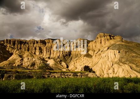 'Moon Landscape', Lamayuru, Ladakh, Jammu and Kashmir, India - Stock Photo