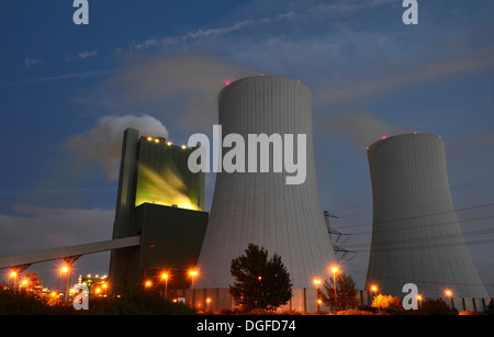 Schkopau Power Station, operated by E.ON, lignite-fired power plant, Schkopau, Saxony-Anhalt, Germany - Stock Photo