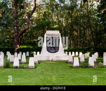 Brookwood Military Cemetery and memorials, Brookwood, United Kingdom. Architect: unknown, 2013. Czechoslovakia memorial. - Stock Photo