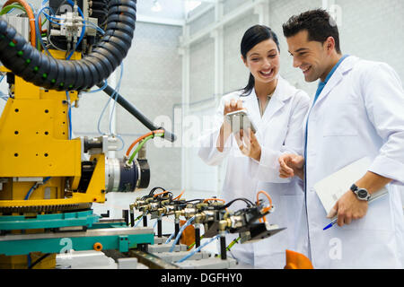 a, Gipuzkoa, Basque Country. Advanced industrial robotic system, final assembly of the motor drive. - Stock Photo