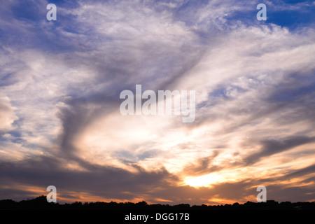 Cloudy Sky at Sunset - Stock Photo
