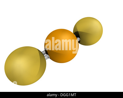 Chemical structure of selenium disulfide, a dandruff shampoo active ingredient, chemical structure. It has antifungal - Stock Photo