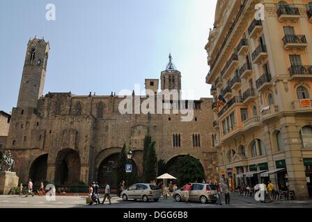 Chapel of Santa Agatha, Capella de Santa Àgata, Gothic Quarter, Barri Gòtic, Barcelona, Catalonia, Spain, Europe, - Stock Photo