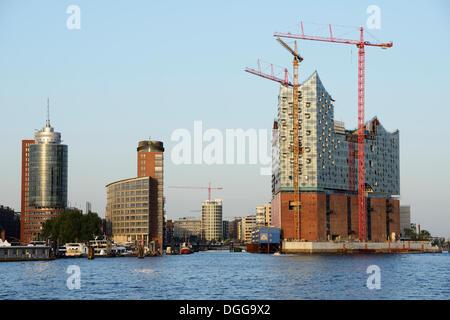 Elbe Philharmonic Hall under construction Kehrwiederspitze, Port of Hamburg, Hamburg, Hamburg, Germany - Stock Photo