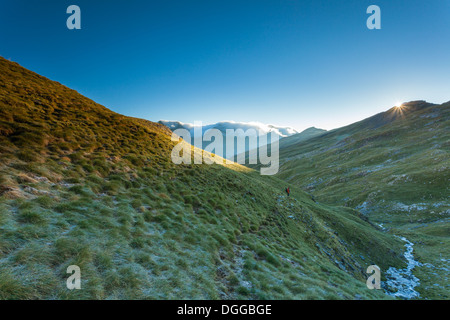 Early morning in Ordiso valley, Spanish Pyrenees. - Stock Photo