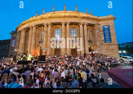 Summer Festival in Stuttgart, Stuttgart State Theatre, Opera House, Stuttgart, Baden-Wuerttemberg - Stock Photo