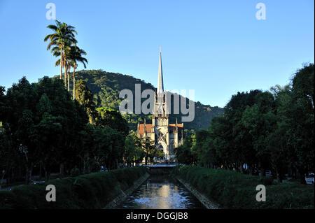 Cathedral of Petropolis, Igreja Sao Pedro de Alcantara, Petropolis, Rio de Janeiro, Brazil, South America - Stock Photo