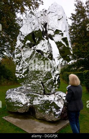 Scholar Rock modern sculpture by Zhan Wang - Stock Photo