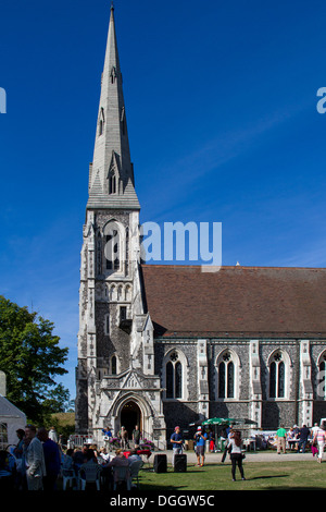 A Church Fete at St. Alban's Church, locally often referred to simply as the English Church, in Copenhagen, Denmark - Stock Photo