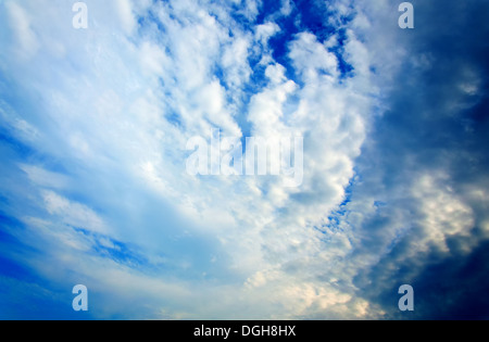 Dramatic stormy clouds. HDR image. - Stock Photo