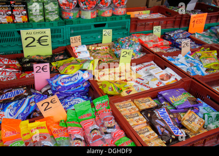 Paris France Europe French 18th arrondissement Les Marche aux Puces de Saint-Ouen Puces Flea Market marketplace - Stock Photo
