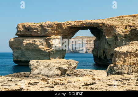 Azure Window, Dwejra, Gozo, Malta - Stock Photo