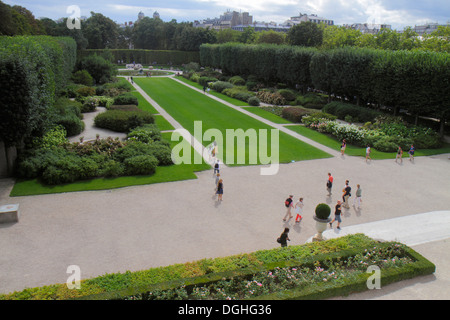Paris France Europe French 7th arrondissement Musée Rodin Rodin Museum garden grounds - Stock Photo