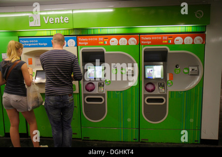 Paris France Europe French 9th arrondissement Havre Caumartin Metro Station RER subway public transportation ticket - Stock Photo