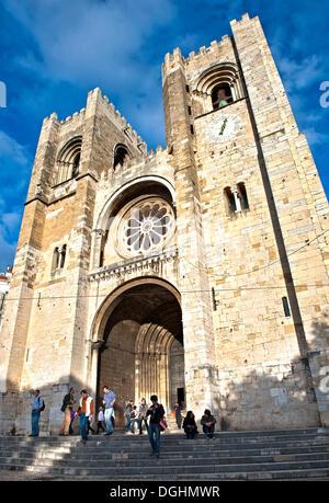 Igreja de Santa Maria Maior church, Sé Patriarcal de Lisboa cathedral, Lisbon, Portugal, Europe - Stock Photo