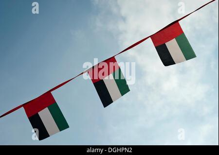 Flags of the United Arab Emirates - Stock Photo