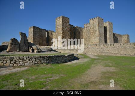 Castillo de Trujillo, Trujillo Castle, Trujillo, Provinz Cáceres, Extremadura, Spain - Stock Photo