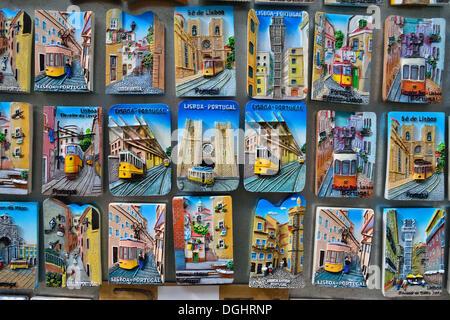 Portugal Lisbon Souvenir Shop Magnet Stock Photo