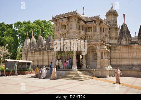 Hathee-Singh Jain Temple, Ahmedabad, Gujarat, India - Stock Photo