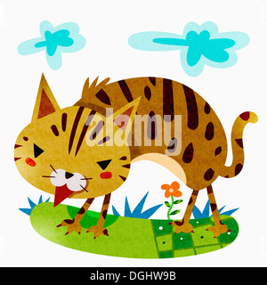 an illustration of a cat - Stock Photo
