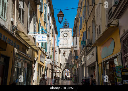 City tower, Apt, Provence-Alpes-Côte d'Azur, France, Europe - Stock Photo