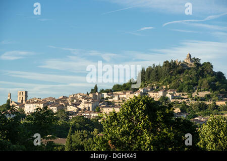 Notre Dame Citadel, Forcalquier, Provence, Alpes-de-Haute-Provence, France, Europe, Forcalquier, Forcalquier - Stock Photo