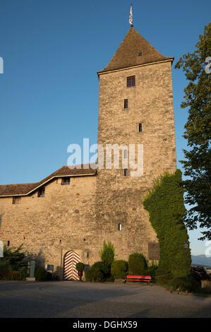 Schloss Rapperswil castle, Rapperswil, Rapperswil-Jona, Canton of St. Gallen, Switzerland - Stock Photo