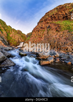 Views of Speke Mill near Hartland Quay. - Stock Photo