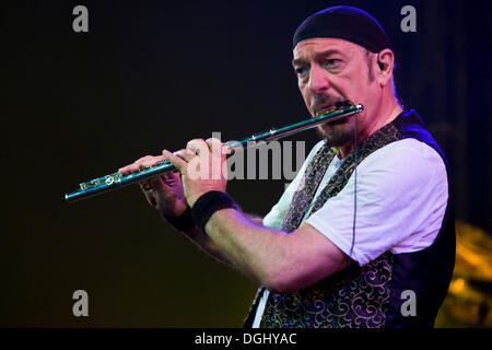 British multi instrumentalist and singer Ian Anderson, Jethro Tull, live at the Blue Balls Festival in Lucerne concert - Stock Photo