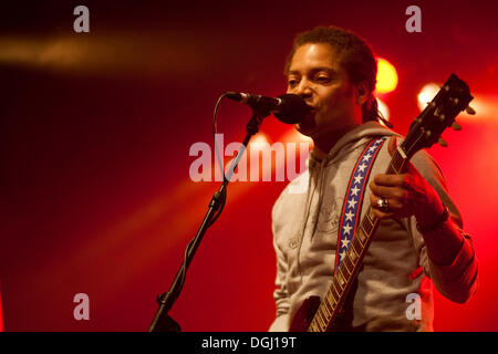 The U.S. singer and songwriter Sananda Maitreya, formerly known as Terence Trent D'Arby, live at the Schueuer venue, - Stock Photo