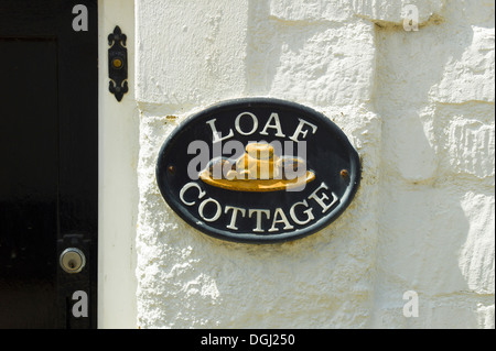 LOAF COTTAGE house name plate possibly linked to premises used as a bakery - Stock Photo