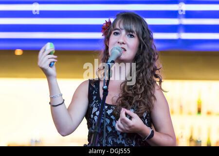 Singer Rea Hunziker of the Swiss Bossa Nova, Samba and