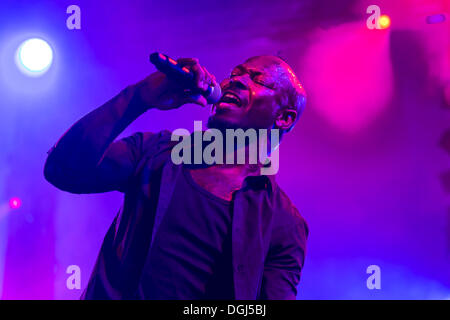 Singer and frontman Kelvin Swaby of the British indie rock band 'The Heavy' performing live at the Lucerne hall - Stock Photo