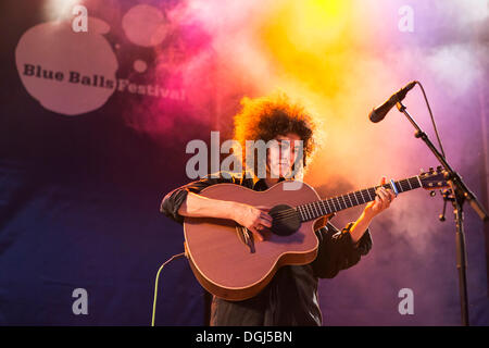 The British singer-songwriter Karima Francis performing live at the Blue Balls Festival, Pavilion at the Lake, Lucerne - Stock Photo