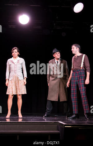The musical Chicago with Annette Krossa as Roxie Hart, Daniel Stuessi as Sergeant Fogerty and Oliver Koch as Amos - Stock Photo