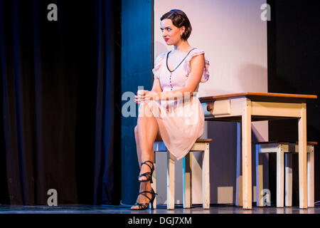 The musical Chicago with Annette Krossa as Roxie Hart live at the Le Théâtre theatre in Kriens, Luzern, Switzerland, - Stock Photo