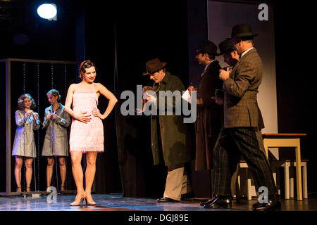 Musical 'Chicago' with Annette Krossa as Roxie Hart, live performance, Le Théâtre in Kriens, Lucerne, Switzerland, - Stock Photo