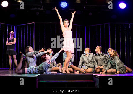 Musical 'Chicago', with Annette Krossa as Roxie Hart, live performance, Le Théâtre in Kriens, Lucerne, Switzerland, - Stock Photo