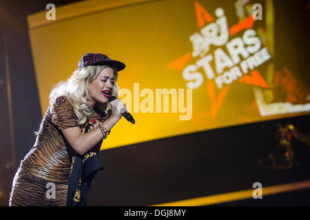 Rita Ora, a British singer, model and actress of Kosovar Albanian descent, singing live at the Energy Stars For - Stock Photo