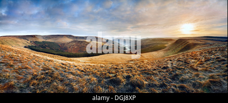 A view up the Glyn Collwn valley in the Brecon Beacons National Park. - Stock Photo
