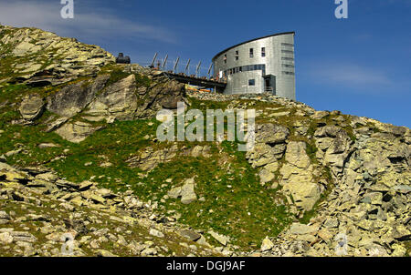The futuristic Velan Hut, Cabane du Velan, the Swiss Alpine Club, SAC, Valais, Switzerland, Europe - Stock Photo