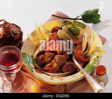 Lamb stew with vegetables, hearty stew, Bulgaria, recipe available for a fee - Stock Photo