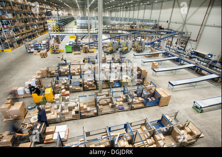 Assembled orders in distribution warehouse - Stock Photo