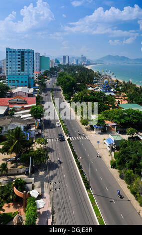 Overlooking the main street of Nha Trang, Vietnam, Southeast Asia - Stock Photo