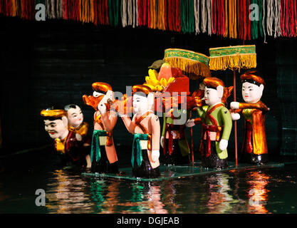 Puppets, Thang Long Water Puppet Theatre, Hanoi, North Vietnam, Vietnam, Southeast Asia - Stock Photo