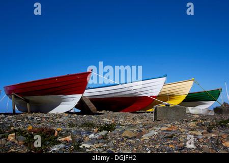 Fishing boats at Sandwick. - Stock Photo