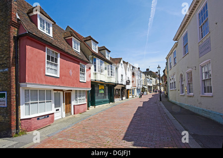West Street in Faversham. - Stock Photo