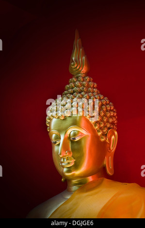 A Buddha at Wat Bupparam in Chiang Mai in Thailand. - Stock Photo